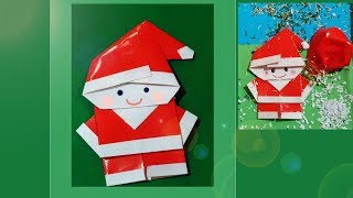 Paper Santa Claus - easy and rich. Papai Noel de Origami. Pop-up card