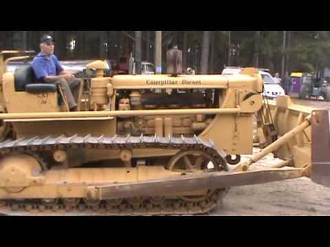Antique Caterpillar Show - Greg Poole Jr. Drives Cat D6D Tractor