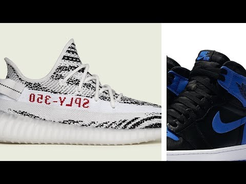 adidas YEEZY Boost 350 'Zebra' and 'Royal' Air JORDAN 1 at Finishline This Weekend #HeatCheck