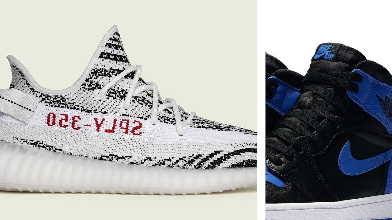 883c4e73fbc adidas YEEZY Boost 350  Zebra  and  Royal  Air JORDAN 1 at Finishline This  Weekend  HeatCheck