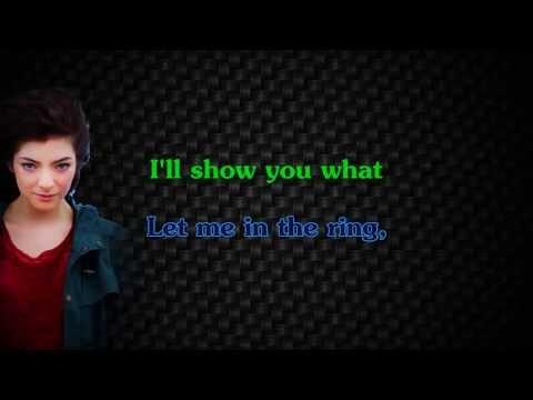 Lorde - Glory and Gore (Karaoke/Instrumental)