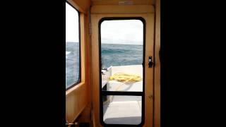 1959 Steel Trawler Rough Seas on Lake MI