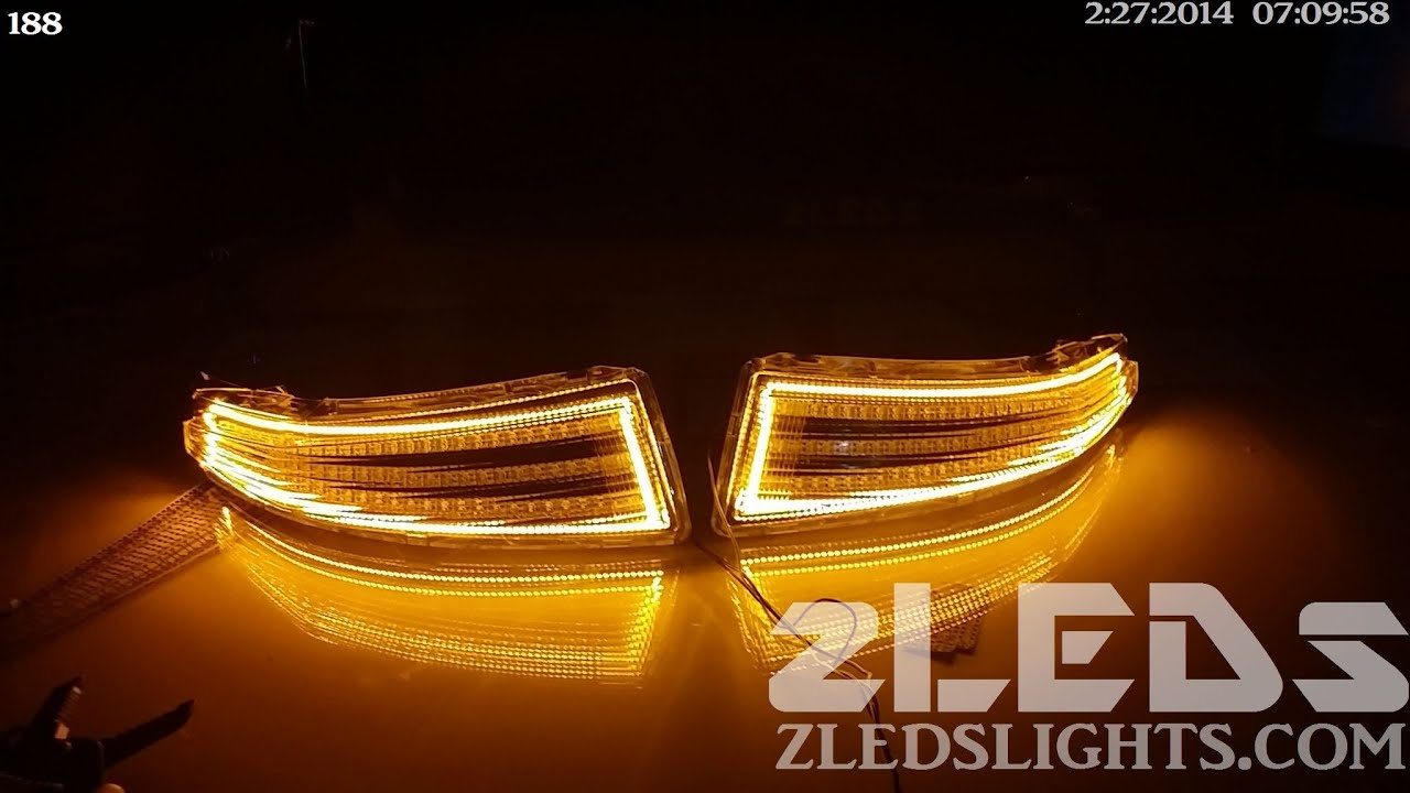 acura mdx custom sequential turn signals by zleds youtube