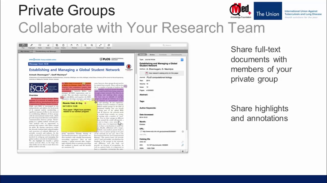 Video 32: Mendeley: How to create groups?
