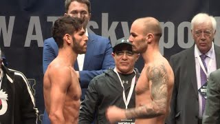 JORGE LINARES v KEVIN MITCHELL - LINARES COMES IN 2lbs OVER WEIGHT ! / RULE BRITANNIA