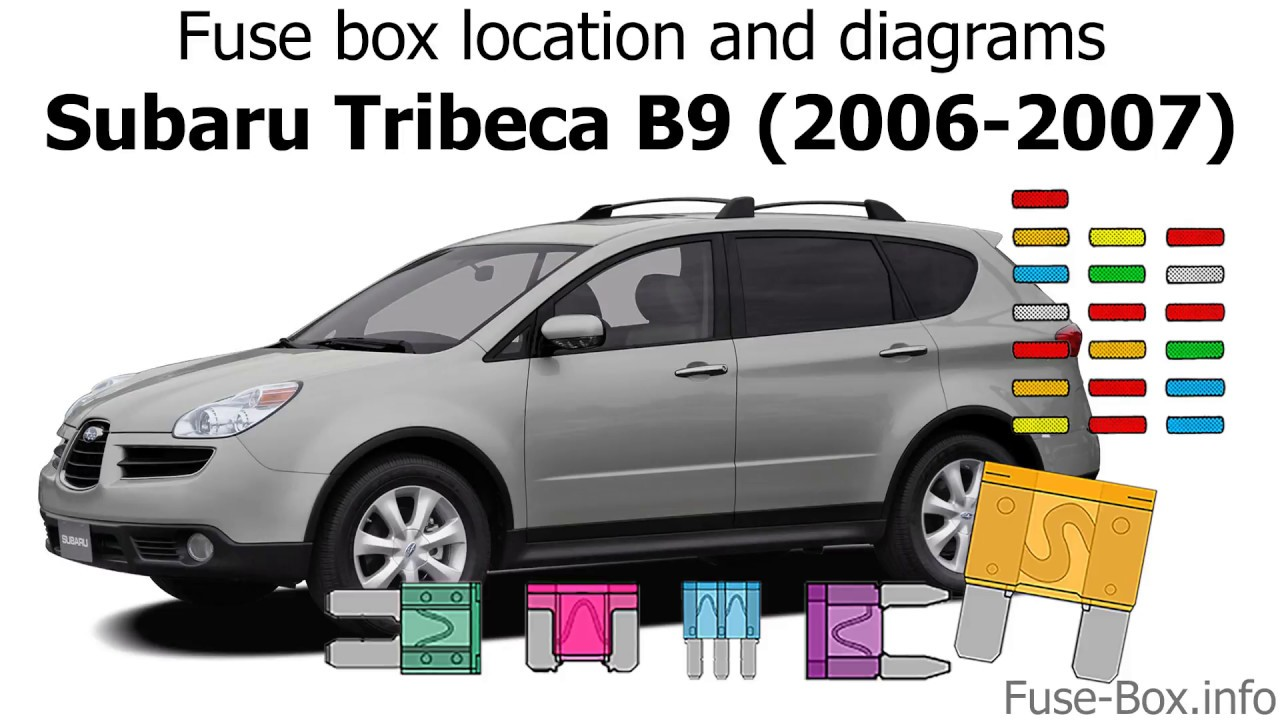 fuse box location and diagrams: subaru tribeca b9 (2006-2007)