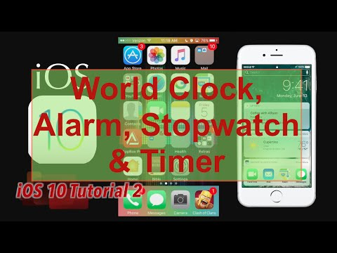 iOS 10 World Clock, Alarm, Bedtime, Stopwatch & Timer Overview on the  iPhone 6s iOS 10 | Tutorial 2