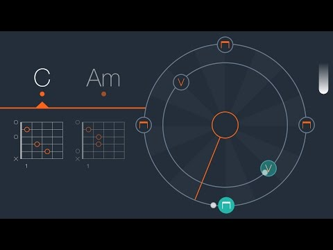 Strumming Trainer in the Uberchord Guitar Learning App
