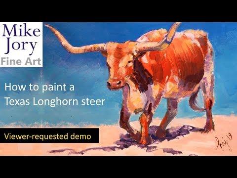 Texas Longhorn Painting Demo