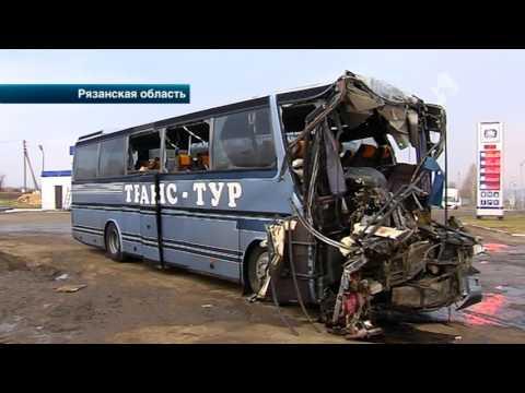 Подробности жуткой аварии с участием пассажирского автобуса на трассе под Рязанью
