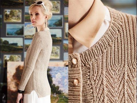 4 Herringbone Cardigan Vogue Knitting Early Fall 2014 Youtube