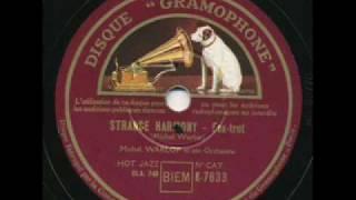 Michel Warlop et son Orchestra, Strange Harmony. Paris 1935