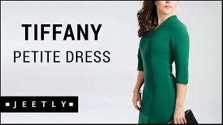 Petite Green and Navy dress - Tiffany dress by Jeetly comes in Navy and Green