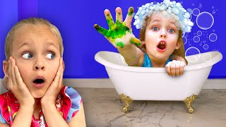아이들은 씻어야 합니다.  씻기 노래   재미있는 어린이 노래