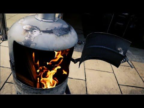Gas Bottle Wood Burner   How to Build Part 2