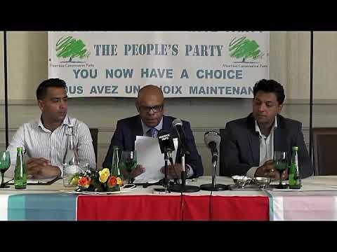 Maurice Info - Conférence de presse de Mauritius Conservative Party du 27 Octobre 2017