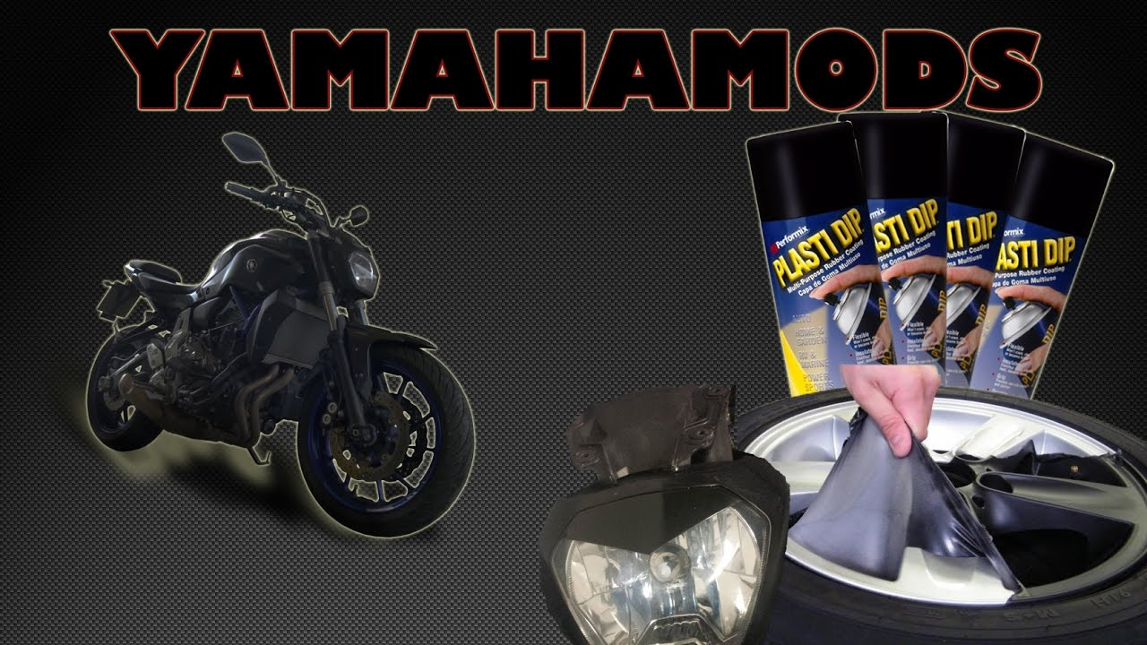 yamahamods 6 plasti dip car nage yamaha mt 07 youtube. Black Bedroom Furniture Sets. Home Design Ideas