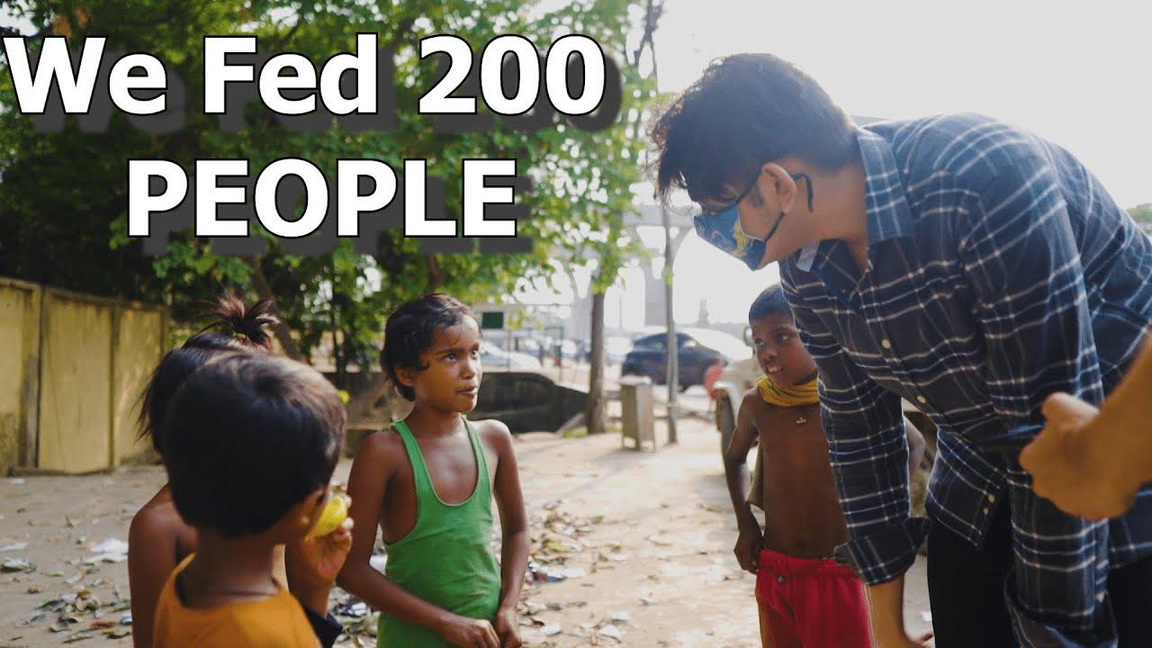 WE FED 200 PEOPLE