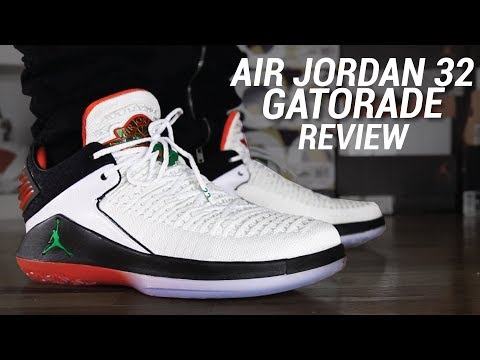 ad49719d888 AIR JORDAN 32 GATORADE REVIEW - YouTube