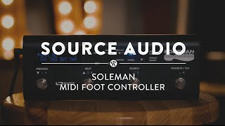 Source Audio Soleman MIDI Foot Controller | Reverb Gear Demo