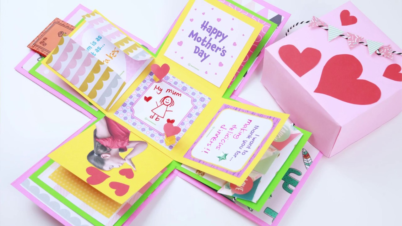 Mother S Day Craft Exploding Gift Box