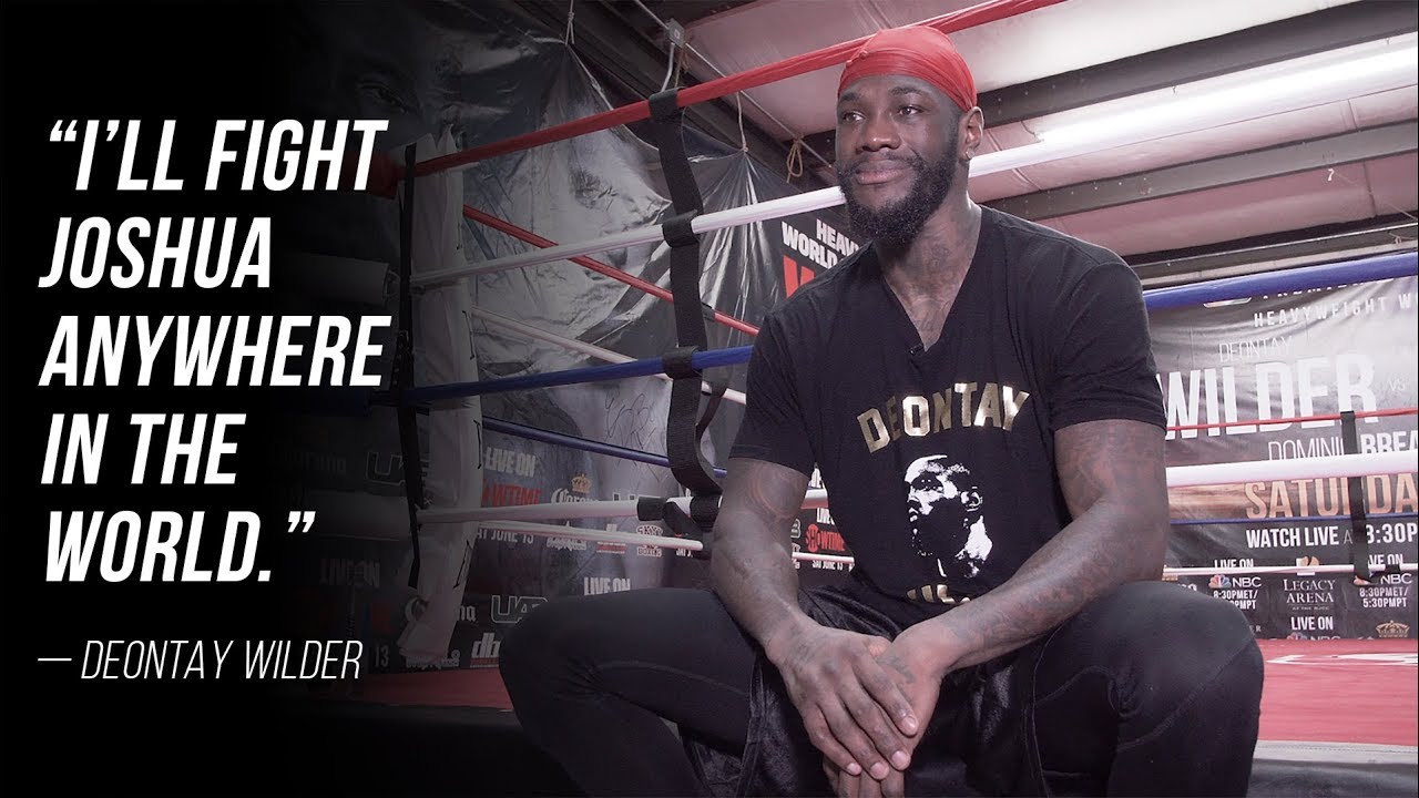 Deontay Wilder Opens Up About Anthony Joshua