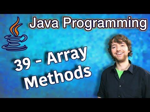 Java Programming Tutorial 39 - Array Methods (Arrays.fill, Arrays.asList, Arrays.equals) thumbnail