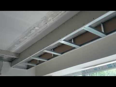 гипсокартонный потолок 5. Дизайн : периметр из прямых коробов. Секреты монтажа.