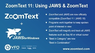 Using ZoomText 11 with JAWS
