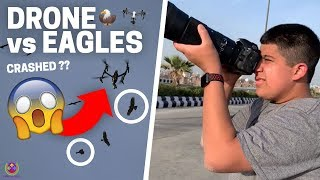 500 EAGLES v/s DRONE | CRASHED ?? | 😱😱😱