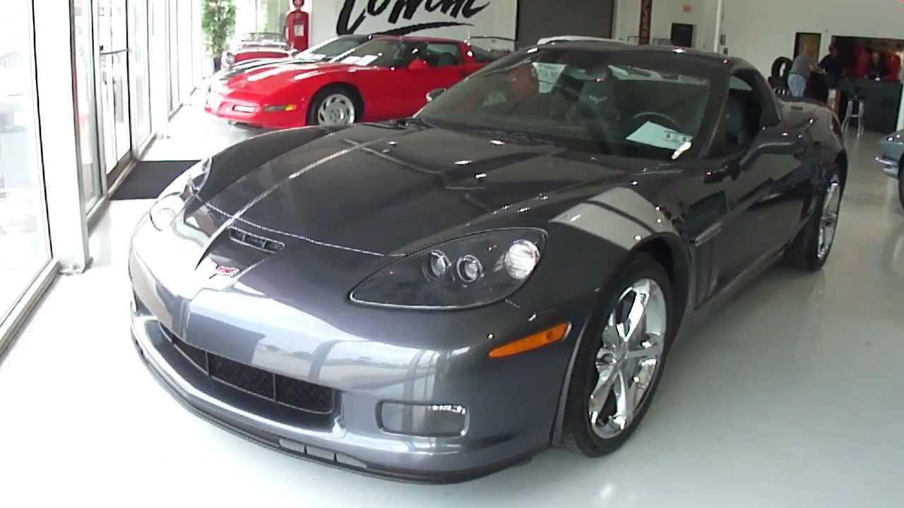 2010 3lt cyber gray grand sport pre shipping walk around corvette world dallas dallas tx. Black Bedroom Furniture Sets. Home Design Ideas