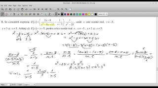 Testul 1 de pregatire pentru ENVIII 2014-Matematica