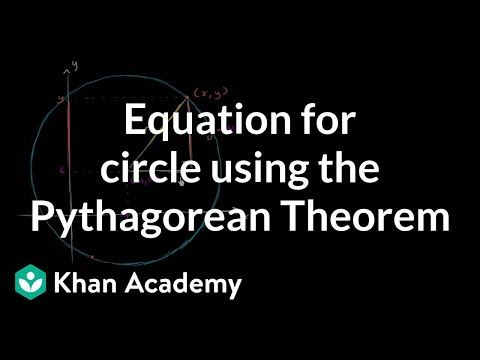 Equation for a circle using the Pythagorean Theorem   Circles   Geometry   Khan Academy