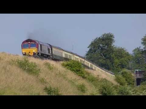 EWS 66145 ECS move Eastleigh-Bristol @ Newton st Loe, 06-07-13
