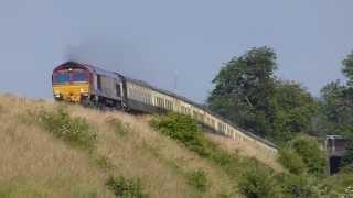 EWS 66145 ECS move Eastleigh-Bristol @ Newton st Loe, 06-07-13