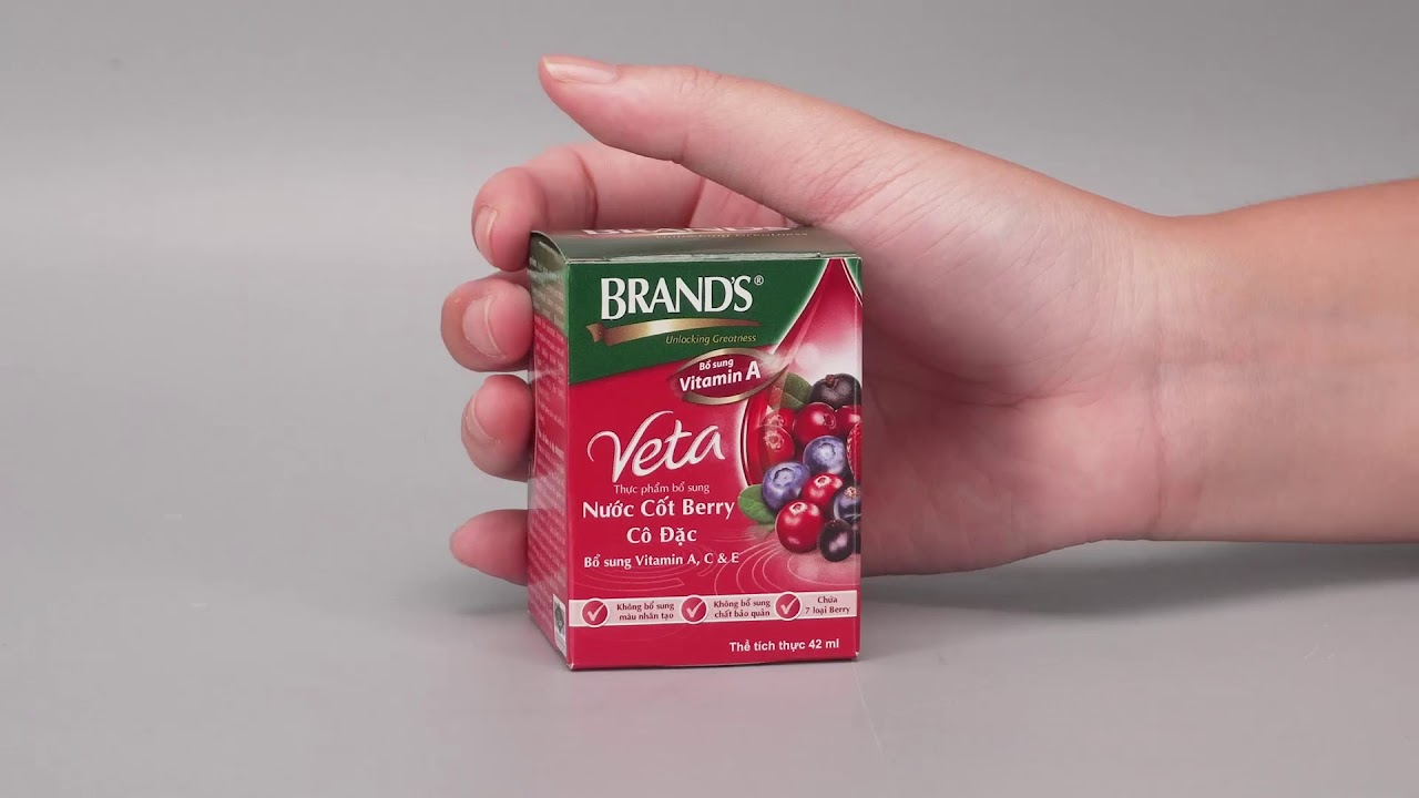 Nước cốt Berry cô đặc Brand's Veta 42ml