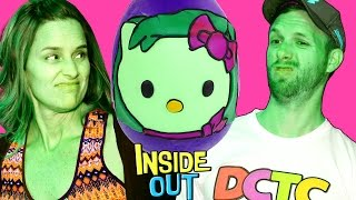 Challenge! New DISGUST as HELLO KITTY Jumbo Play Doh Egg! Inside Out Surprise Toys Opening by DCTC