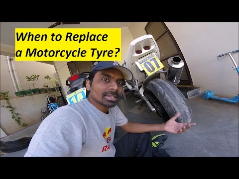 When To Replace A Motorcycle Tyre. Superbike Or KTM Duke 390, RC 390 Etc
