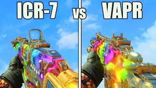 ICR-7 vs VAPR-XKG BLACK OPS 4 BEST GUNS! VAPR vs ICR WEAPON STATS BO4 MULTIPLAYER BEST WEAPONS!
