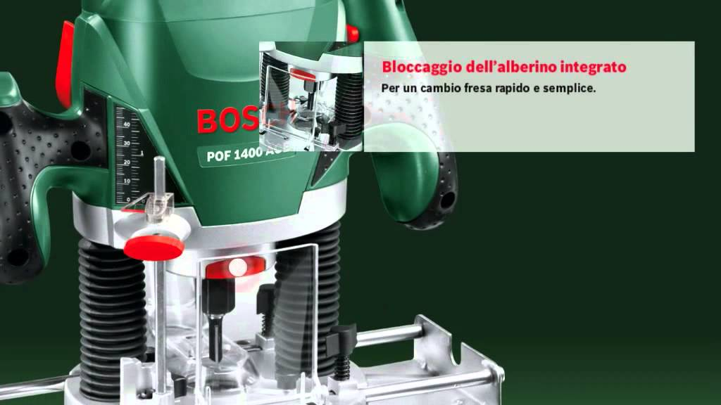 Bosch fresatrice verticale pof 1400 ace doovi for Banco fresa bosch