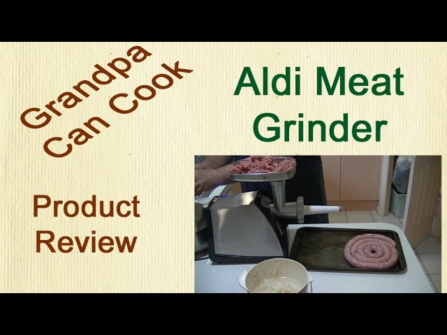 Aldi Ambiano Meat Grinder Putting It To The Test It Does The Job Youtube