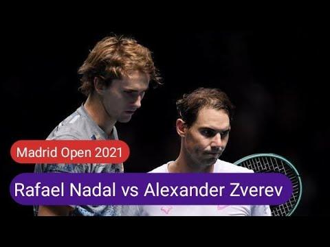 Rafael Nadal vs Alexander Zverev || ATP - Madrid , clay || LIVE Prediction Score Match 2021