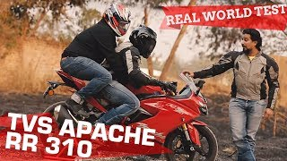 TVS Apache RR 310 | 0-100, Heating, Pillion comfort, Touring, Mileage - TESTED!