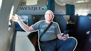 Westjet 787 Business Class INAUGURAL LONG HAUL FLIGHT!