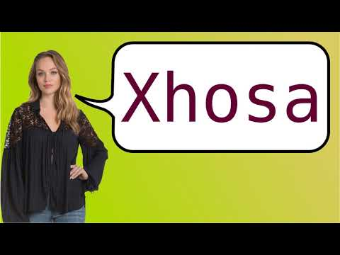 How to say 'Xhosa' in French?