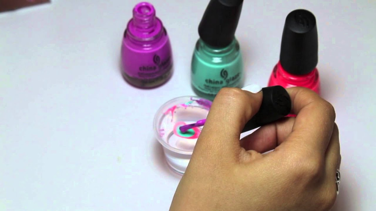 How to Water Marble Your Nails - YouTube