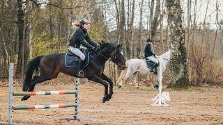 Zirgu jāšanas sacensības | Horse Riding Competition 22.04.2017