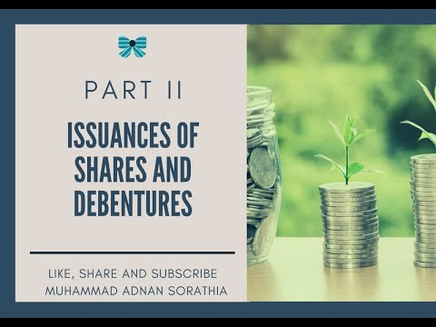 Company Accounts- Issuance Of Shares And Debentures Lecture II Urdu/Hindi By Mohammad Adnan Sorathia