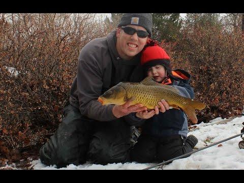 Winter Carp Fishing in Utah. No Corn Carp Bait