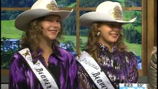 Beaver Creek Rodeo Royalty Morgan & Brielle Kromer, Kelsie Winslow  07.27.17 Good Morning Vail